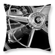 1953 Pontiac Steering Wheel 2 Throw Pillow