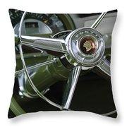 1953 Pontiac Steering Wheel Throw Pillow
