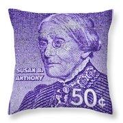 1954-1961 Susan B. Anthony Stamp Throw Pillow