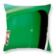 1954 Arnolt Bristol Bolide Emblem Throw Pillow