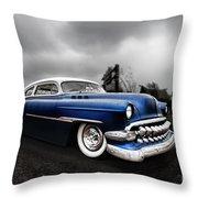 1954 Blue Buick Throw Pillow