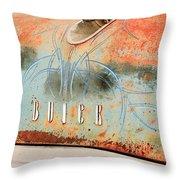 1954 Buick Special Hood Ornament Throw Pillow by Jill Reger