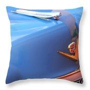 1954 Cadillac Coupe Deville Wheel Emblem - Hood Ornament Throw Pillow