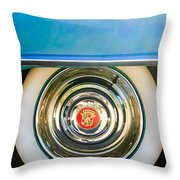 1954 Cadillac Coupe Deville Wheel Emblem Throw Pillow