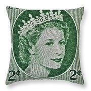 1954 Canada Stamp Throw Pillow
