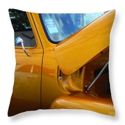 1954 Chevrolet And A 1963 Lemans Reflection Throw Pillow