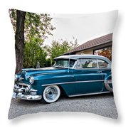 1954 Chevrolet Bel Air Throw Pillow