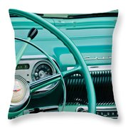 1954 Chevrolet Belair Steering Wheel 3 Throw Pillow