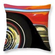 1954 Chevrolet Convertible Wheel Throw Pillow