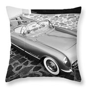 1954 Chevrolet Corvette -270bw Throw Pillow