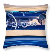 1954 Chevrolet Corvette Steering Wheel -139c Throw Pillow