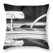 1954 Chevrolet Corvette Steering Wheel -311bw Throw Pillow