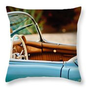 1954 Chevrolet Corvette Steering Wheel -407c Throw Pillow
