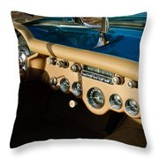 1954 Chevrolet Corvette Steering Wheel -502c Throw Pillow