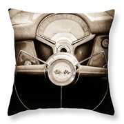 1954 Chevrolet Corvette Steering Wheel Emblem Throw Pillow