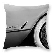 1954 Chevrolet Corvette Wheel Emblem -282bw Throw Pillow