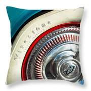 1954 Chevrolet Corvette Wheel Emblem -290c Throw Pillow