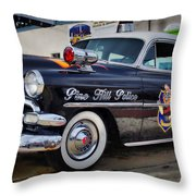 1954 Chevy Dare Police Car  Pine Hill  Nj Throw Pillow