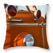 1954 Classic American Lafrance Type 700 Pumper Fire Engine Throw Pillow