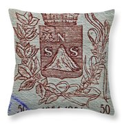 1954 El Salvador Stamp Throw Pillow