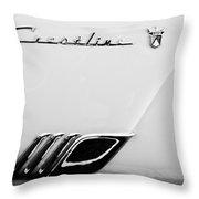 1954 Ford Crestline Skyliner Emblem -0560bw Throw Pillow