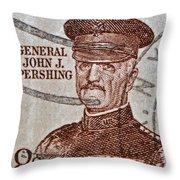 1954 General John J. Pershing Stamp Throw Pillow