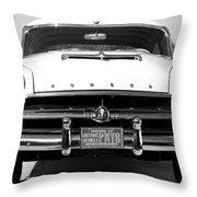 1954 Hudson Hornet In Black Throw Pillow