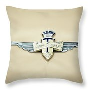 1954 Hudson Italia Touring Coupe Emblem Throw Pillow