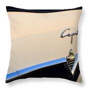 1954 Lincoln Capri Convertible Emblem 2 Throw Pillow by Jill Reger