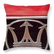 1954 Maserati A6 Gcs Emblem Throw Pillow by Jill Reger