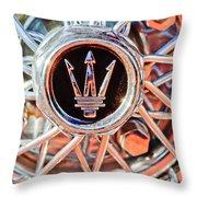 1954 Maserati A6 Gcs Wheel Rim Emblem Throw Pillow