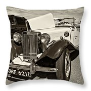 1954 Mg Td Sepia Throw Pillow