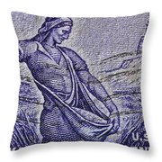 1954 Nebraska Territorial Stamp Throw Pillow