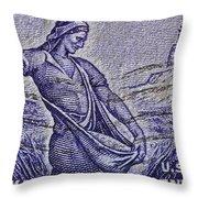 1954 Nebraska Territorial Stamp Throw Pillow