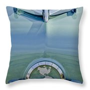 1954 Oldsmobile Super 88 Hood Ornament Throw Pillow