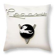 1954 Pegaso Z-102 Saoutchik Coue Emblem -2218c Throw Pillow