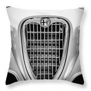 1955 Alfa Romeo 1900 Css Ghia Aigle Cabriolet Grille Emblem -0564bw Throw Pillow
