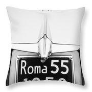 1955 Alfa Romeo 1900 Css Ghia Aigle Cabriolet Grille Emblem - Super Sprint Emblem -0601bw Throw Pillow