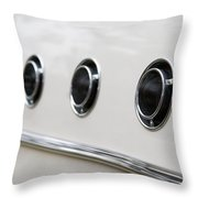 1955 Buick Special Air Vents Throw Pillow