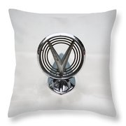 1955 Buick Special Hood Ornamant Throw Pillow