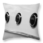1955 Buick Special Side Air Vents Throw Pillow
