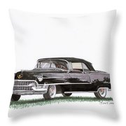 1955 Cadillac Series 62 Convertible Throw Pillow