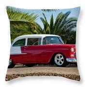 1955 Chevrolet 210 Throw Pillow