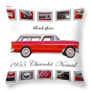 1955 Chevrolet Belair Nomad Art Throw Pillow