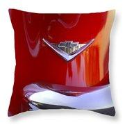 1955 Chevrolet Belair Nomad Emblem Throw Pillow