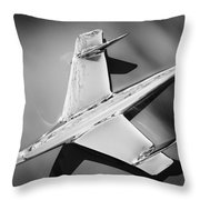 1955 Chevrolet Belair Nomad Hood Ornament -037bw Throw Pillow