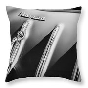 1955 Chevrolet Belair Nomad Hood Ornament -559bw Throw Pillow