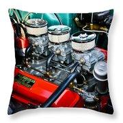 1955 Chevy 327 Throw Pillow