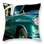1955 Chevy Bel Air Down The Side Throw Pillow