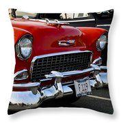 1955 Chevy Bel Air Front End Throw Pillow